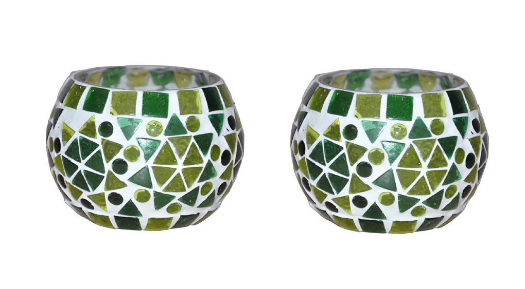 Lalhaveli Diwali Christmas Home Decorative Glass Tealight Candle Holders lights Xmas Gifts 3 x 3 Inches